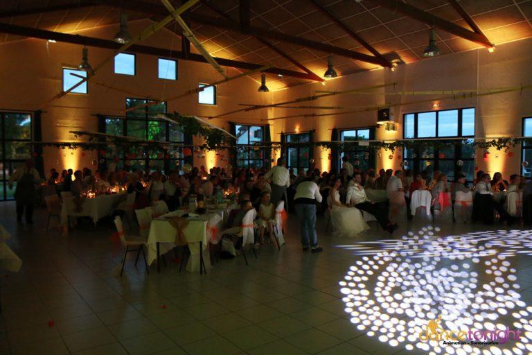Mise en lumière salle mariage Calvados