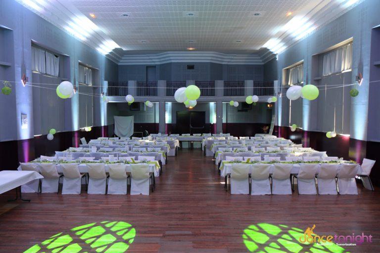 Mise en lumière salle mariage Manche