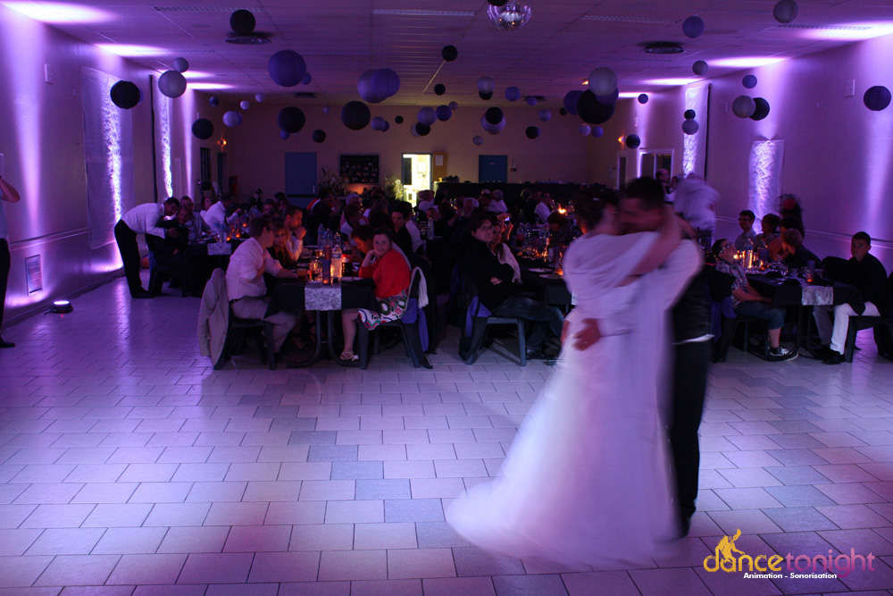 Mise en lumière salle mariage Normandie