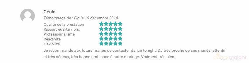 Avis DJ mariage Manche