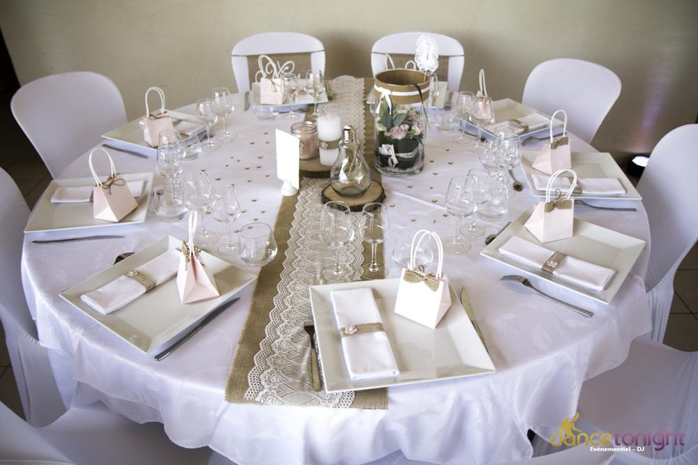 décoration mariage manche