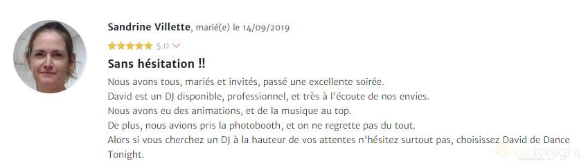 Avis DJ mariage Cherbourg-en-Cotentin